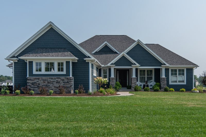 This is the exterior front view of the Homearama home