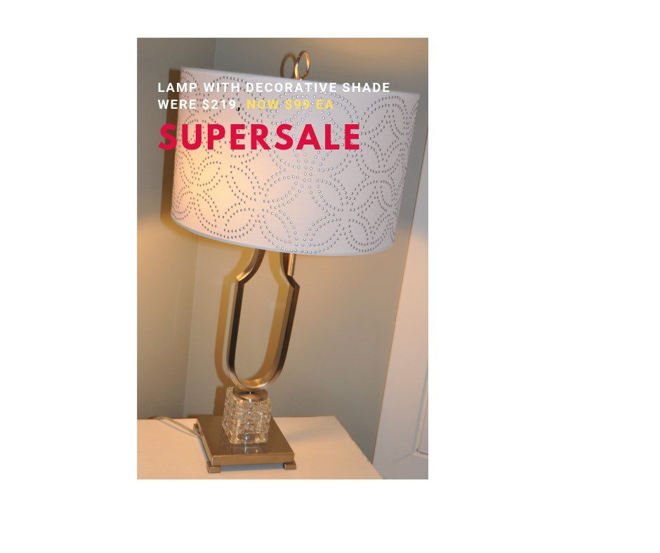 SuperSale lamp with decorative shade